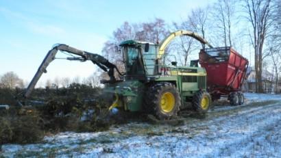 Kæmpe Flishugger, der kan lave flis til stoker og biomasse